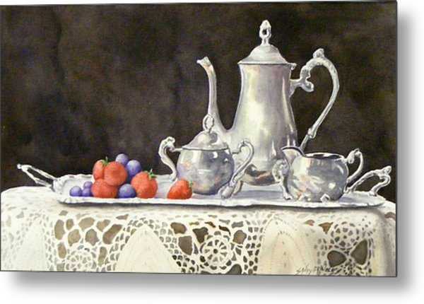 Tea Time  Original Metal Print