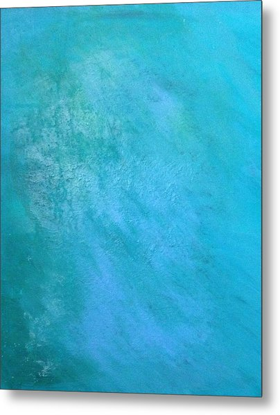 Metal Print featuring the painting Teal by Antonio Romero