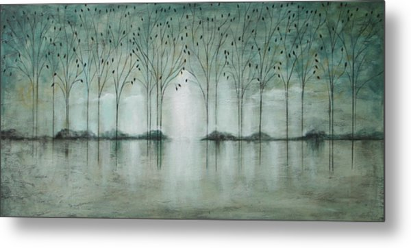 Teal Forest Metal Print
