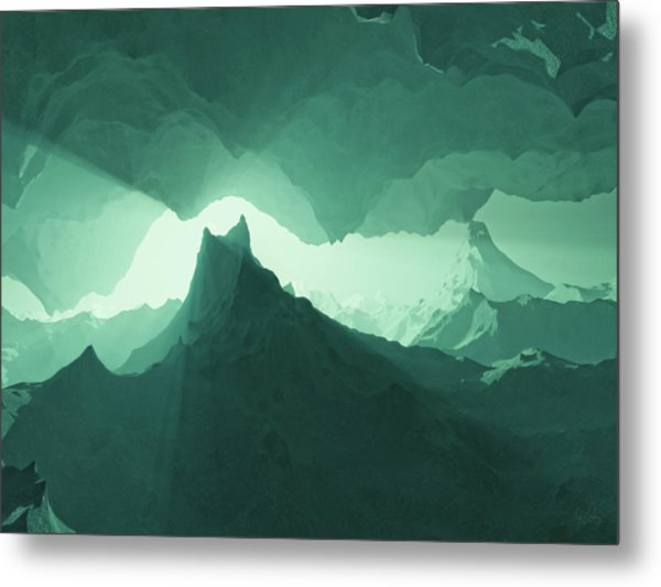 Teal Surreal Metal Print
