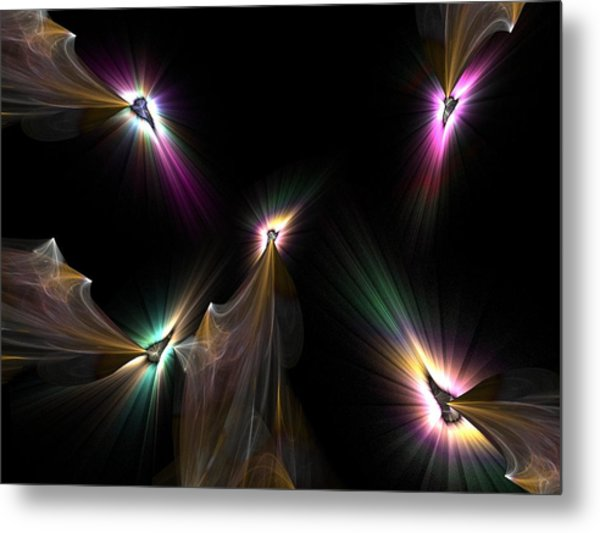 Tear The Darkness Metal Print by Ricky Kendall