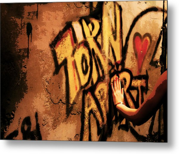Tear This Wall Down Metal Print