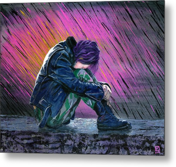 Tears In The Rain Metal Print