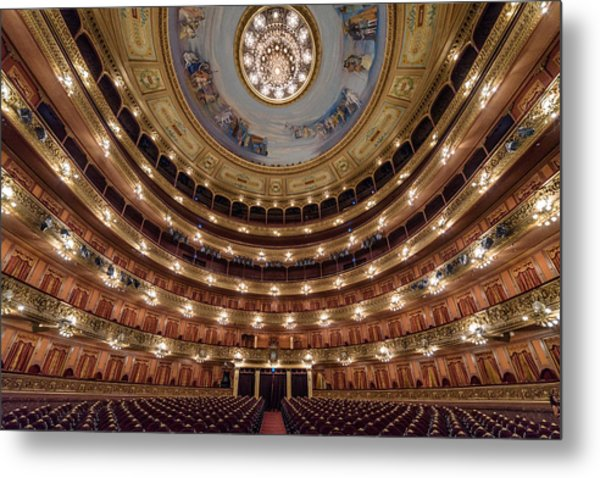 Teatro Colon Performers View Metal Print