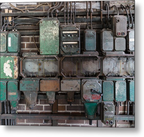 Technological Relics Metal Print