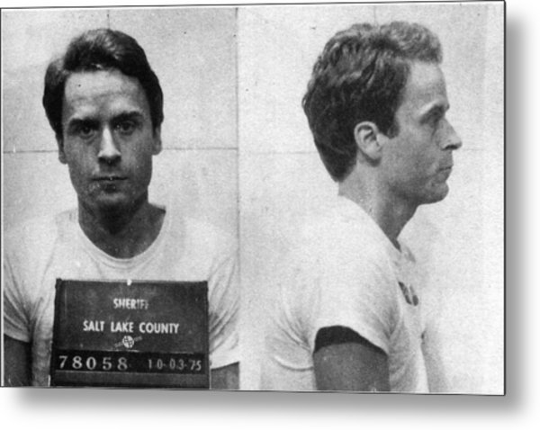 Ted Bundy Mug Shot 1975 Horizontal  Metal Print