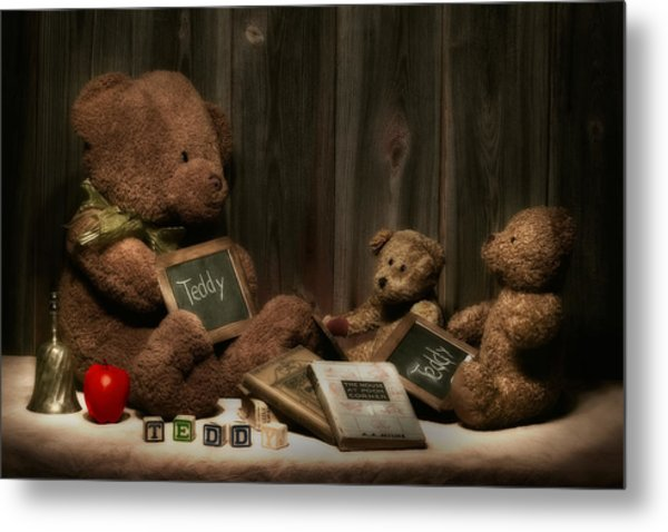 Teddy Bear School Metal Print