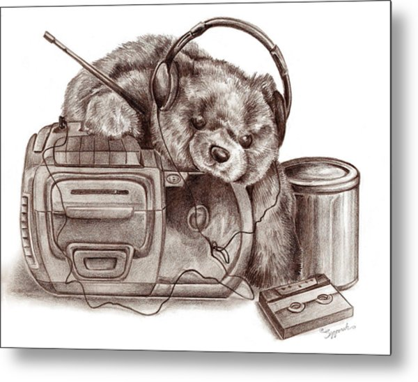 Teenage Bear Metal Print