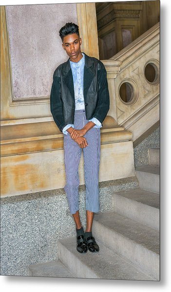 Metal Print featuring the photograph Teenage Boy Fashion 1504267 by Alexander Image