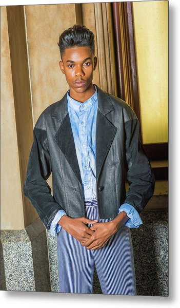 Metal Print featuring the photograph Teenage Casual Fashion 15042629 by Alexander Image