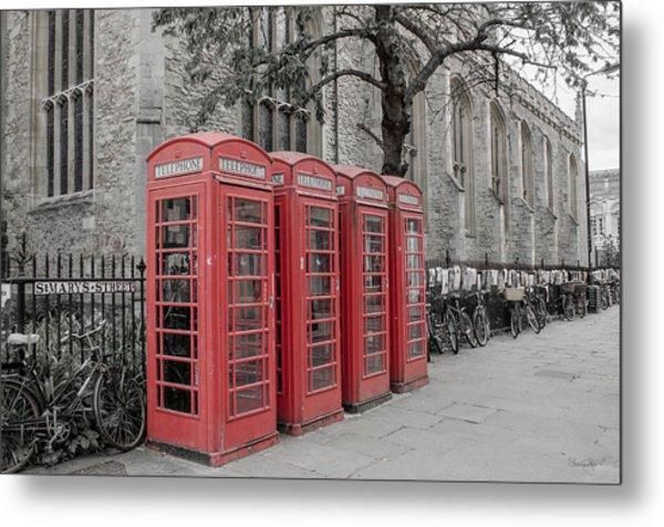 Telephone Boxes Metal Print