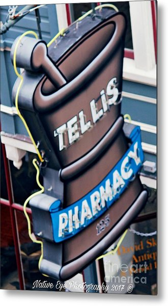 Tellis Pharmacy/ King Street Metal Print