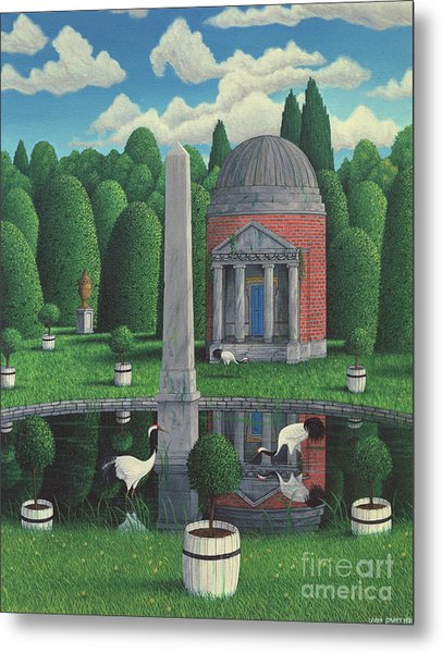 Temple, Chiswick House Gardens Metal Print