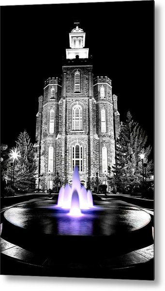 Temple Fountain  Metal Print