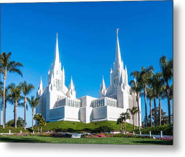 Metal Print featuring the photograph Temple Glow by Patti Deters
