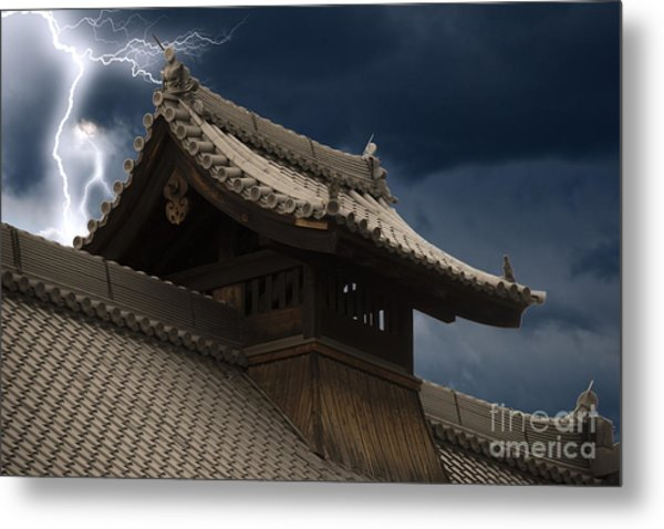 Temple In The Sky Metal Print
