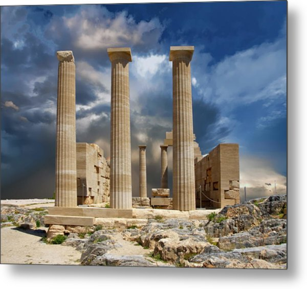 Temple Of Athena Metal Print