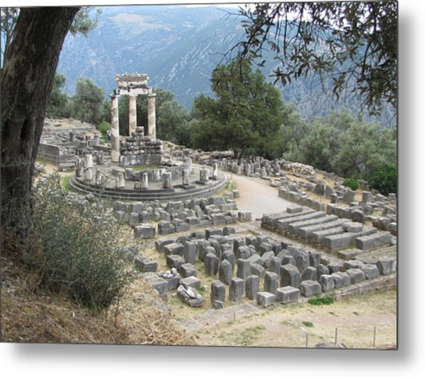 Temple Of Athena At Delphi Metal Print