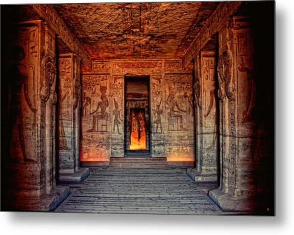 Temple Of Hathor And Nefertari Abu Simbel Metal Print