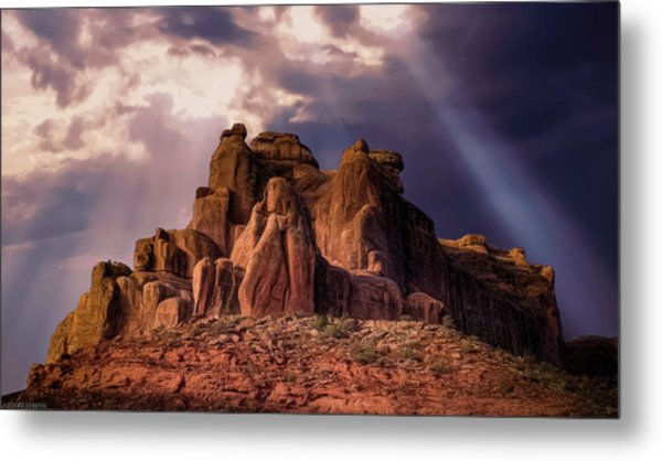Temple Of Red Stone Metal Print