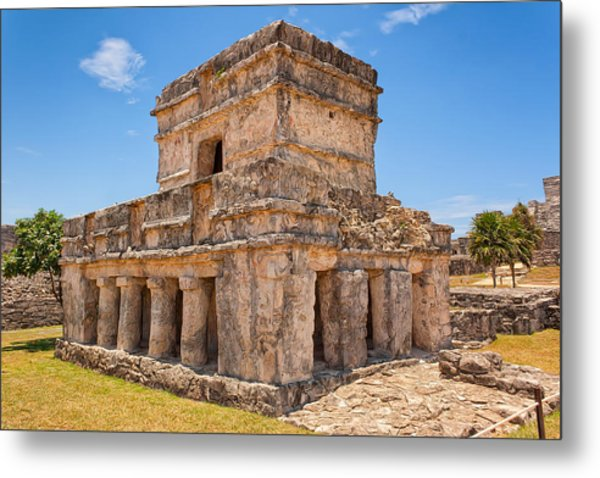 Temple Of The Frescos Metal Print