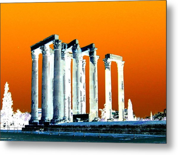 Temple Of Zeus Metal Print