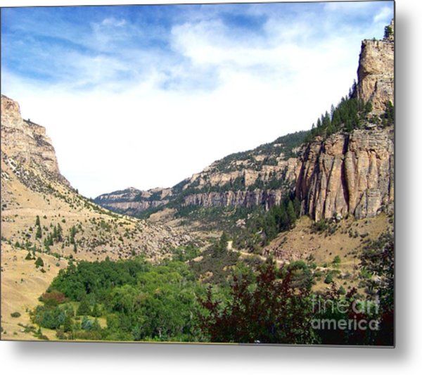 Ten Sleep Canyon -2 Metal Print