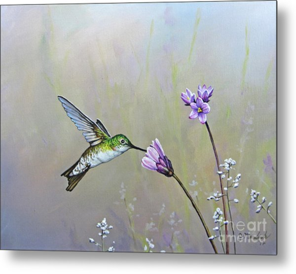 Tending The Garden Metal Print