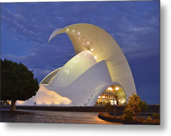 Tenerife Auditorium At Dusk Metal Print