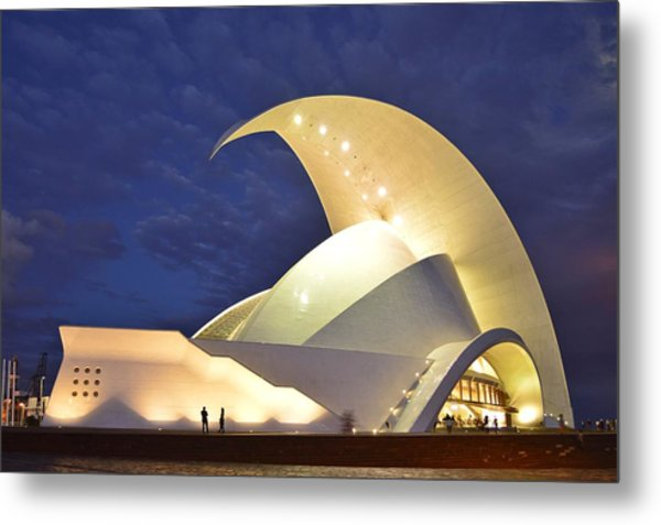 Tenerife Auditorium At Night Metal Print