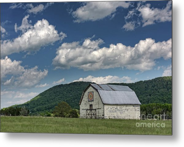 Tennessee Barn Quilt Metal Print