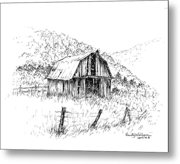 Tennessee Hills With Barn Metal Print