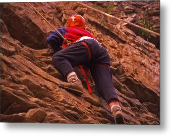 Tennessee Rappelling - 2 Metal Print by Randy Muir