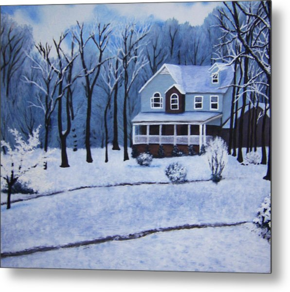 Tennessee Winter In The Smokies Metal Print by Beth Parrish