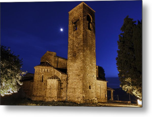 Tenth Century Church In Artimino Metal Print