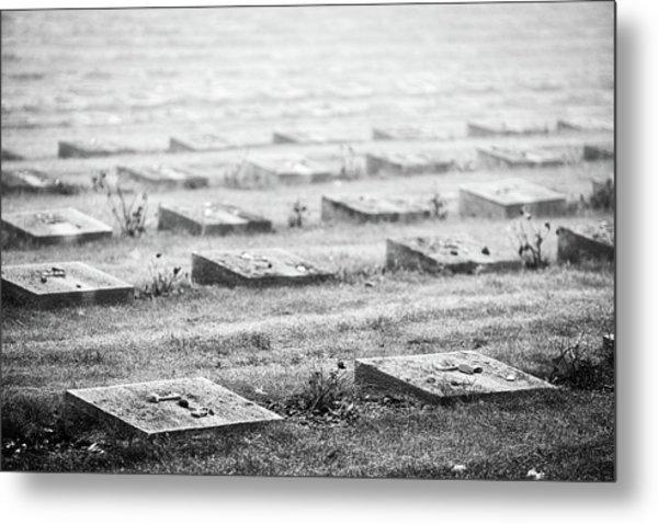 Terezin Cemetery Graves - Czechia Metal Print