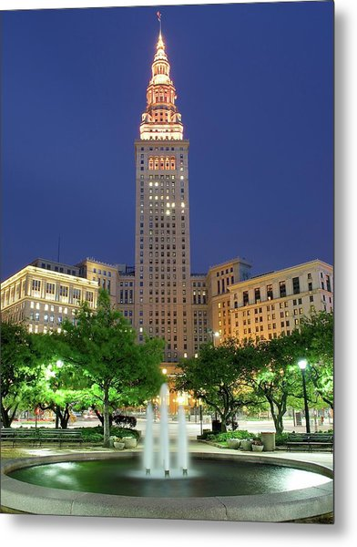 Terminal Tower Metal Print