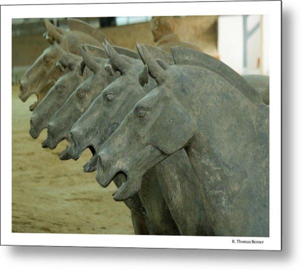 Terra Cotta Horses Metal Print