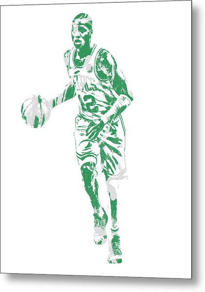 Terry Rozier Boston Celtics Pixel Art 10 Metal Print