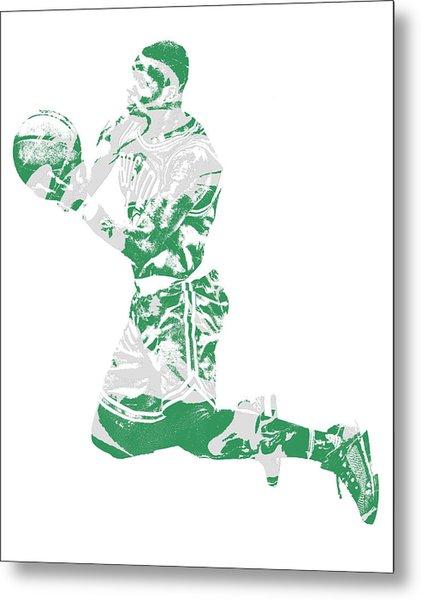 Terry Rozier Boston Celtics Pixel Art 12 Metal Print