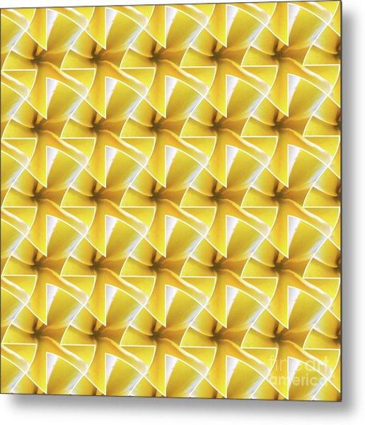 Tessel Flower Metal Print