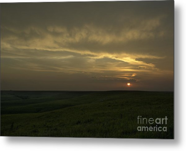 Teterville Sunset Metal Print