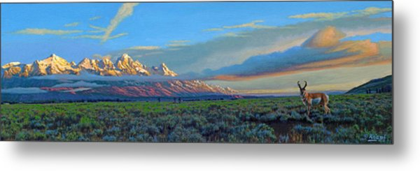 Teton Morning Metal Print
