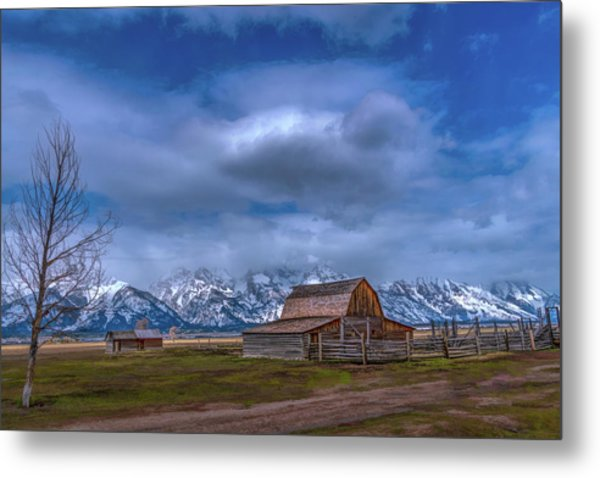 Teton National Park Mormon Row Metal Print