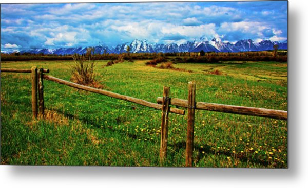 Metal Print featuring the photograph Teton Park Spring by Norman Hall