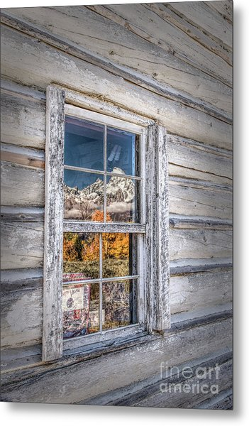 Teton Reflection Metal Print