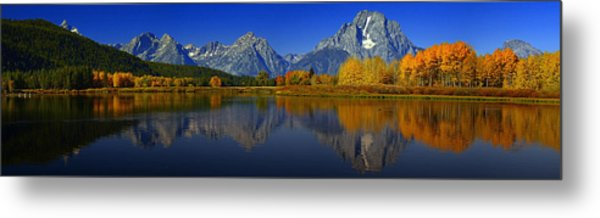 Tetons From Oxbow Bend Metal Print