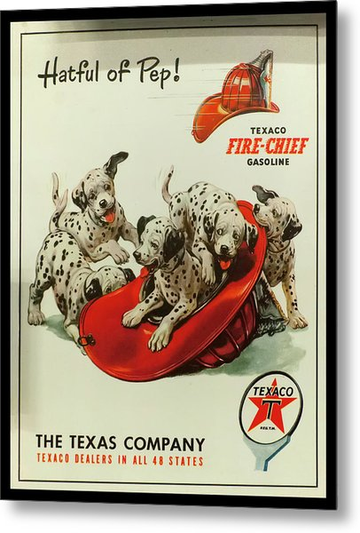 Metal Print featuring the photograph Texaco Antique Sign by Chris Flees