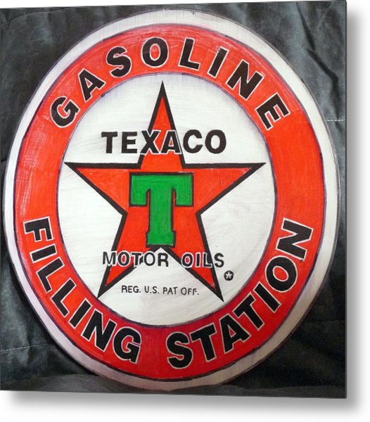 Texaco Sign Metal Print