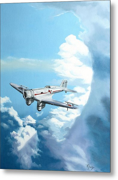 Texaco Sky Chief Metal Print by Kenneth Young